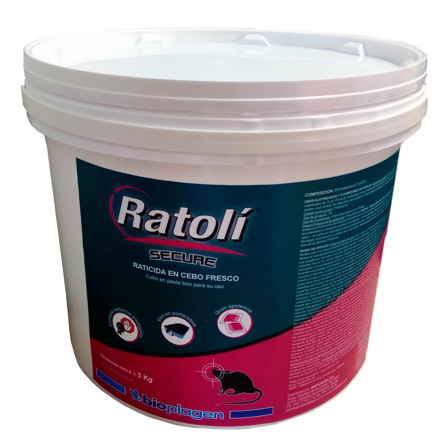 RATOLI SECURE CEBO FRESCO 3 KG ((RD))
