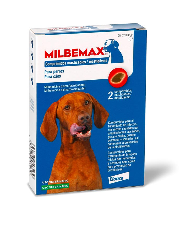 MILBEMAX PERRO 5-75 KG 2 COMP MASTIC