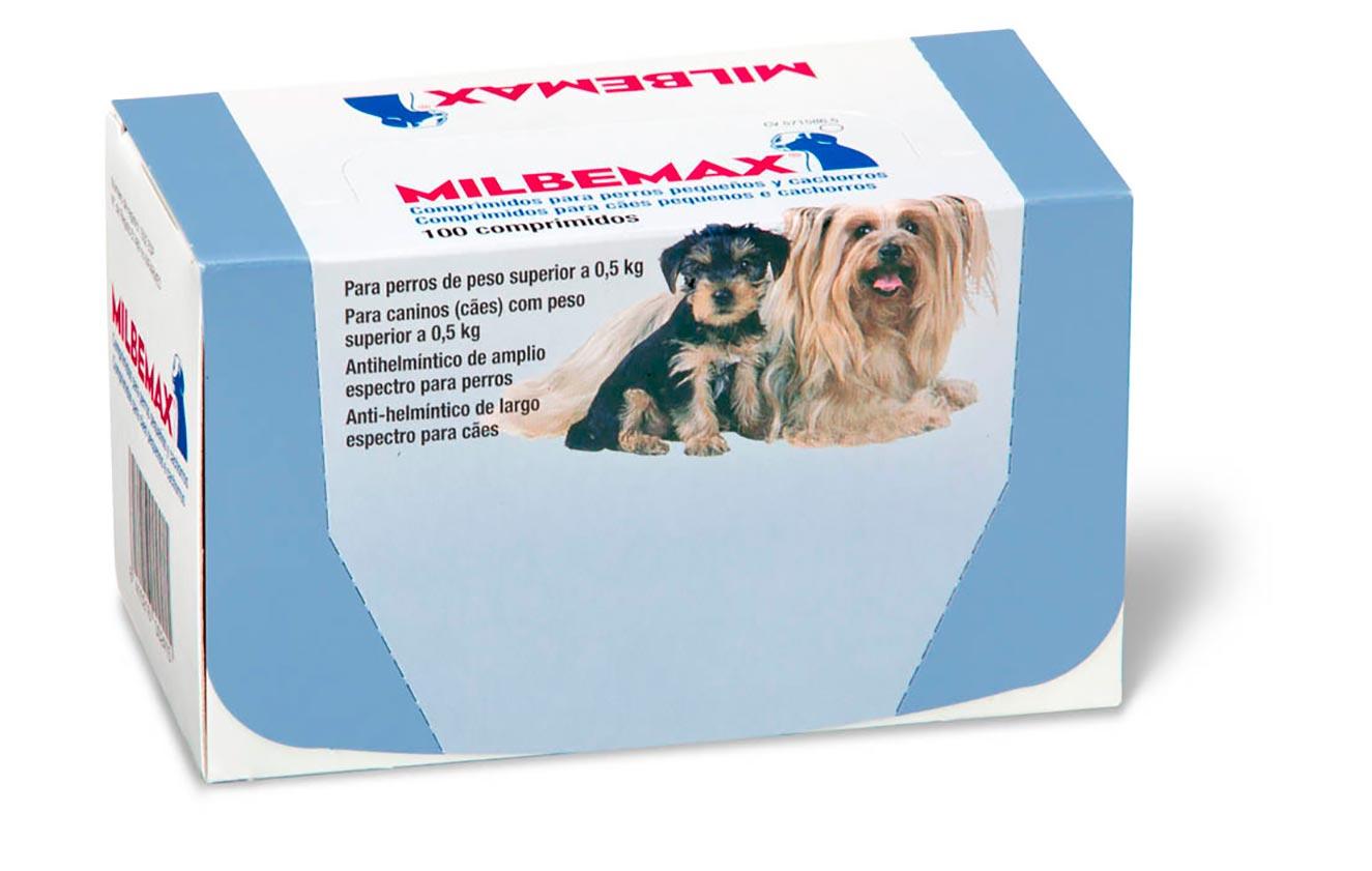MILBEMAX PERRO+CACH 0,5-5 KG 100 COMP+SOBRES