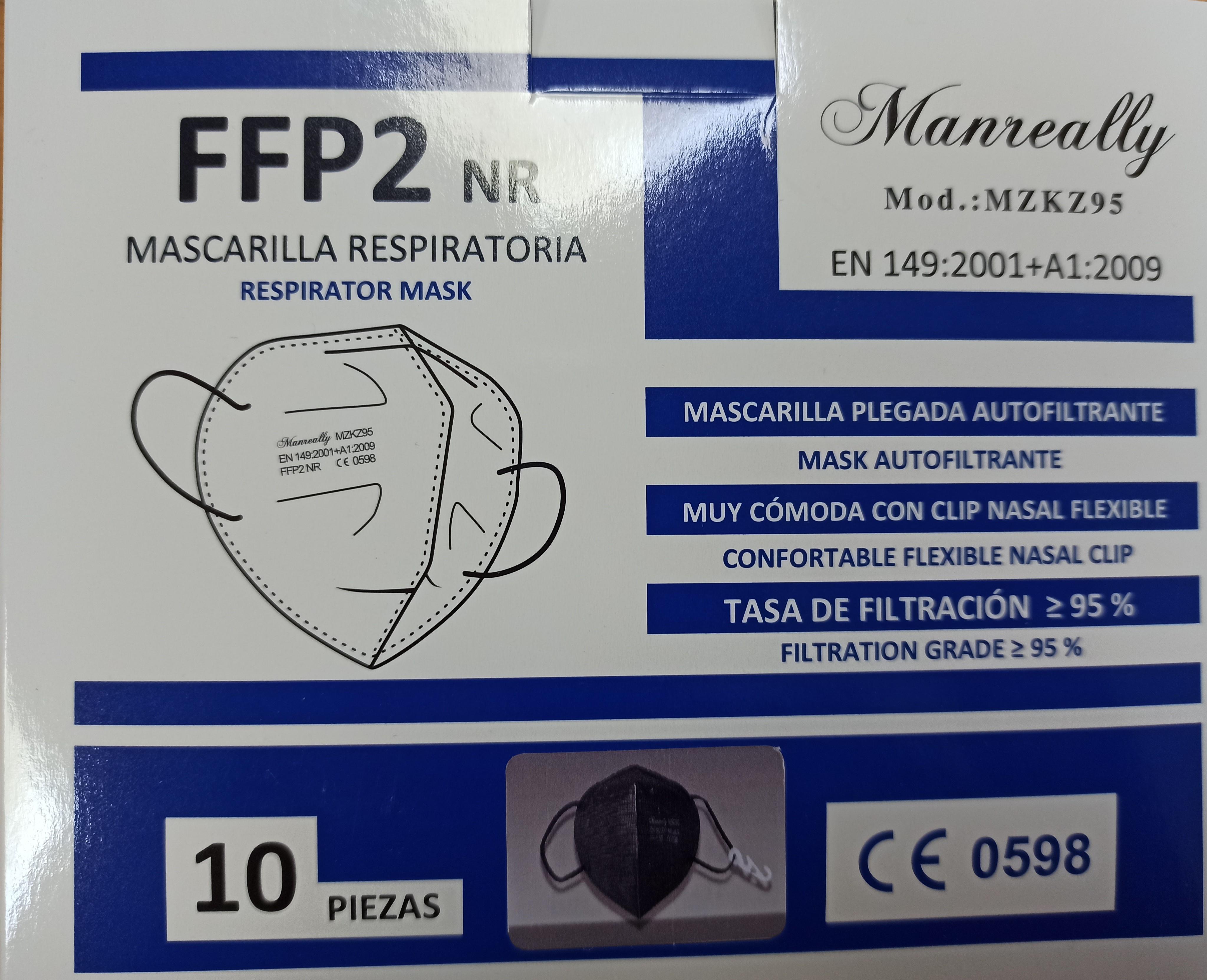 MASCARILLA FFP2 NEGRA 10 UDS (REF.IP-119D4)