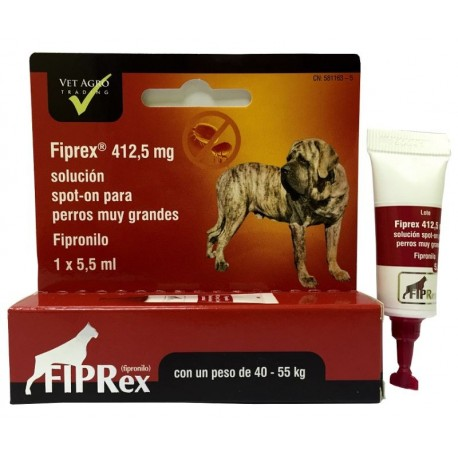 "FIPREX ""XL"" 412.5 MG PERROS 40-55 KG 1 PIP"