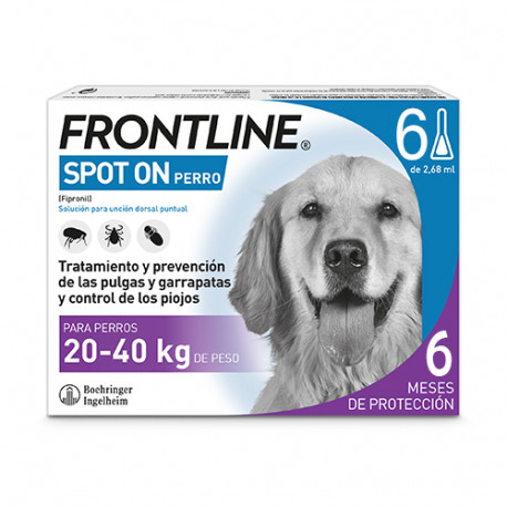 FRONTLINE PERROS 20-40 KG 6 PIP