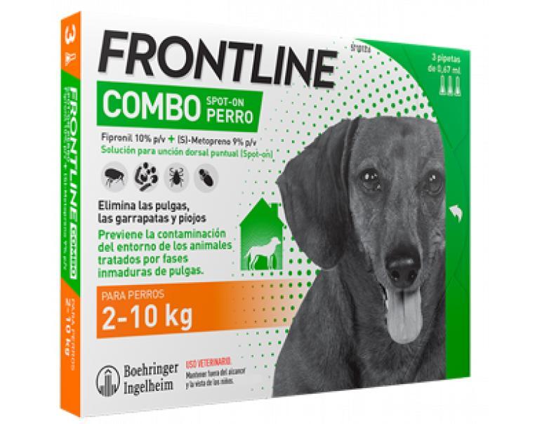 FRONTLINE COMBO PERROS 2-10 KG 3 PIP