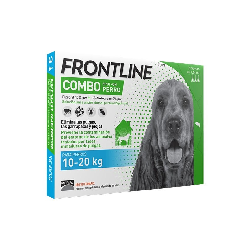 FRONTLINE COMBO PERROS 10-20 KG 3 PIP