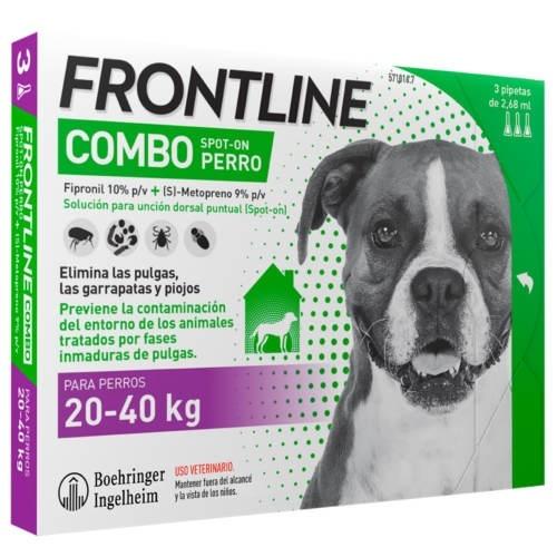 FRONTLINE COMBO PERROS 20-40 KG 3 PIP