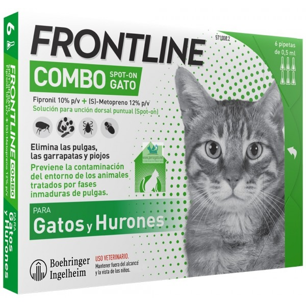 FRONTLINE COMBO GATOS 6 PIP