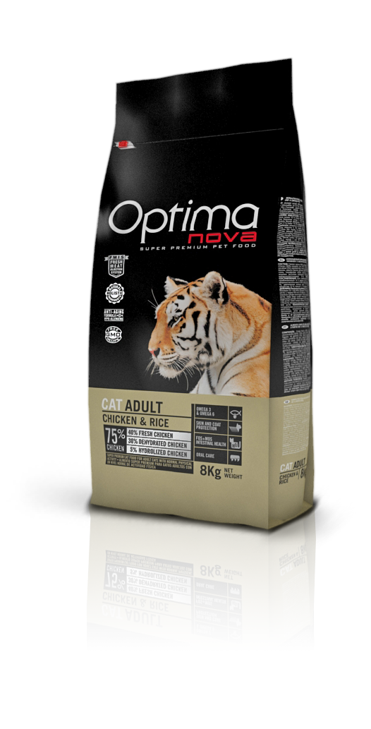 OPTIMA CAT ADULT CHICKEN & RICE 2 KG (ONC52AD02)