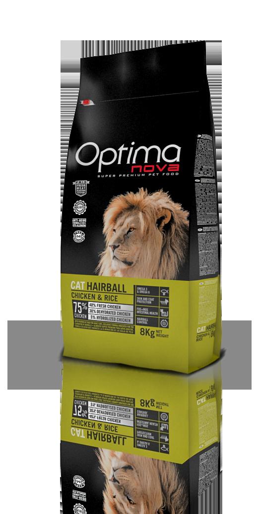 OPTIMA CAT HAIRBALL CHICKEN & RICE 2 KG (ONC57HB02)