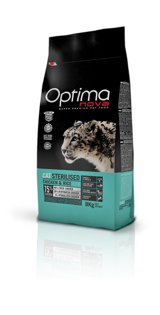 OPTIMA CAT STERILISED CHICKEN & RICE 2 KG (ONC56ST02)