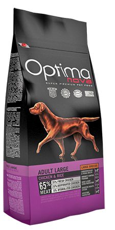 OPTIMA ADULT LARGE BREED CHICKEN & RICE 12 KG (ONL65LA12)