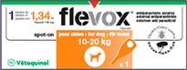 FLEVOX M 134 MG 10-20 KG MONOP