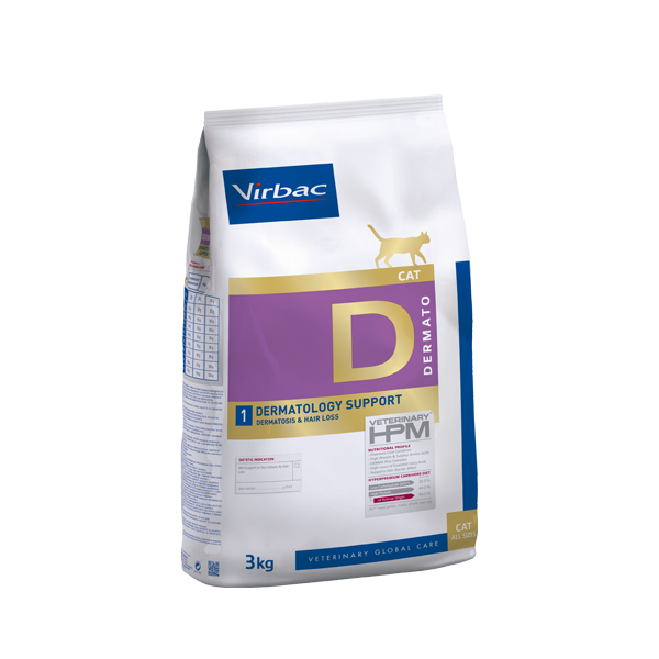 VETC D1-CAT DERMATOLOGY SUPPORT 3 KG (REF.AC360102)