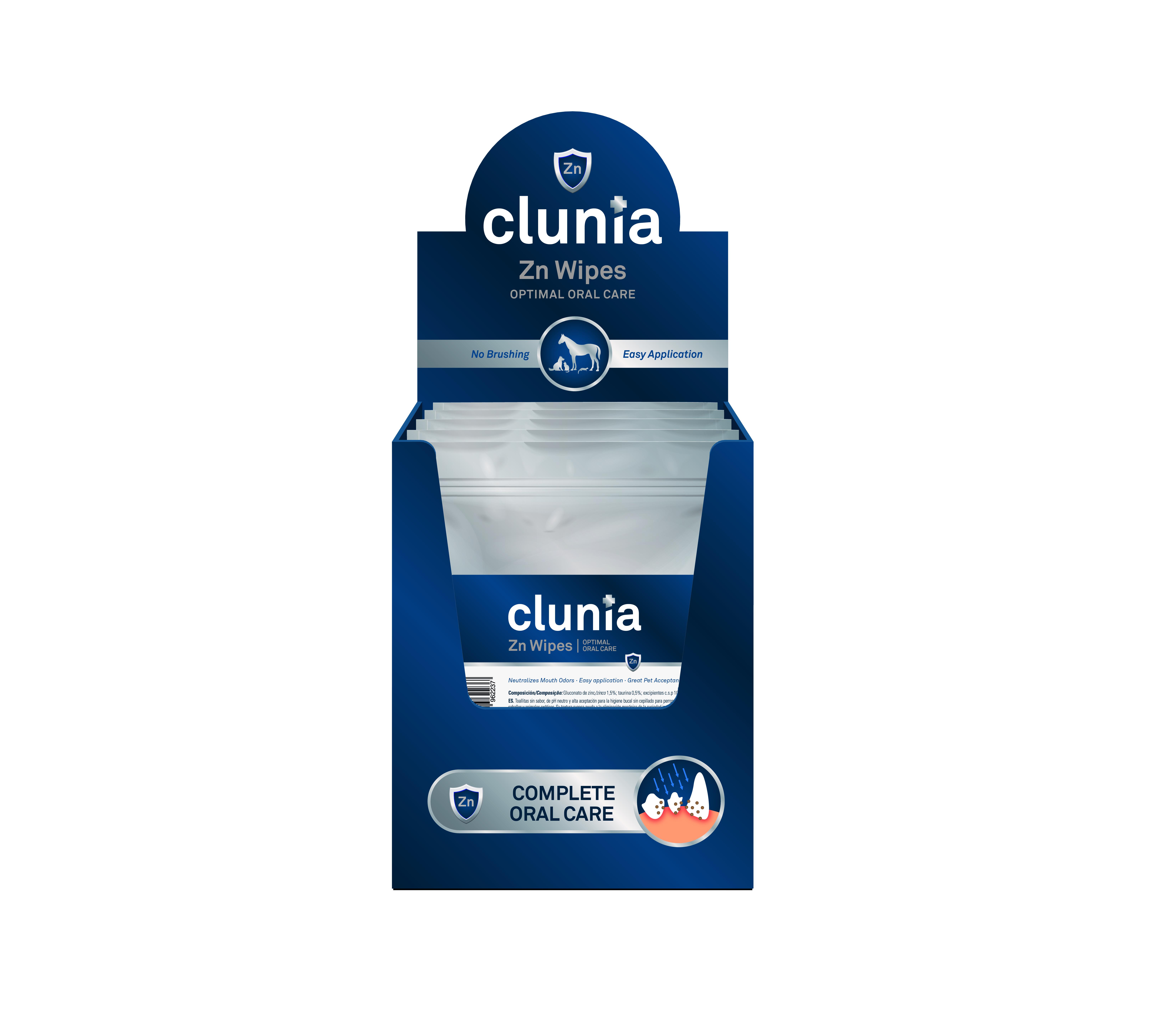 CLUNIA ZN WIPES DISPLAY BOX