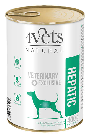 4VETS DOG HEPATIC 6 X 400 G (13077)
