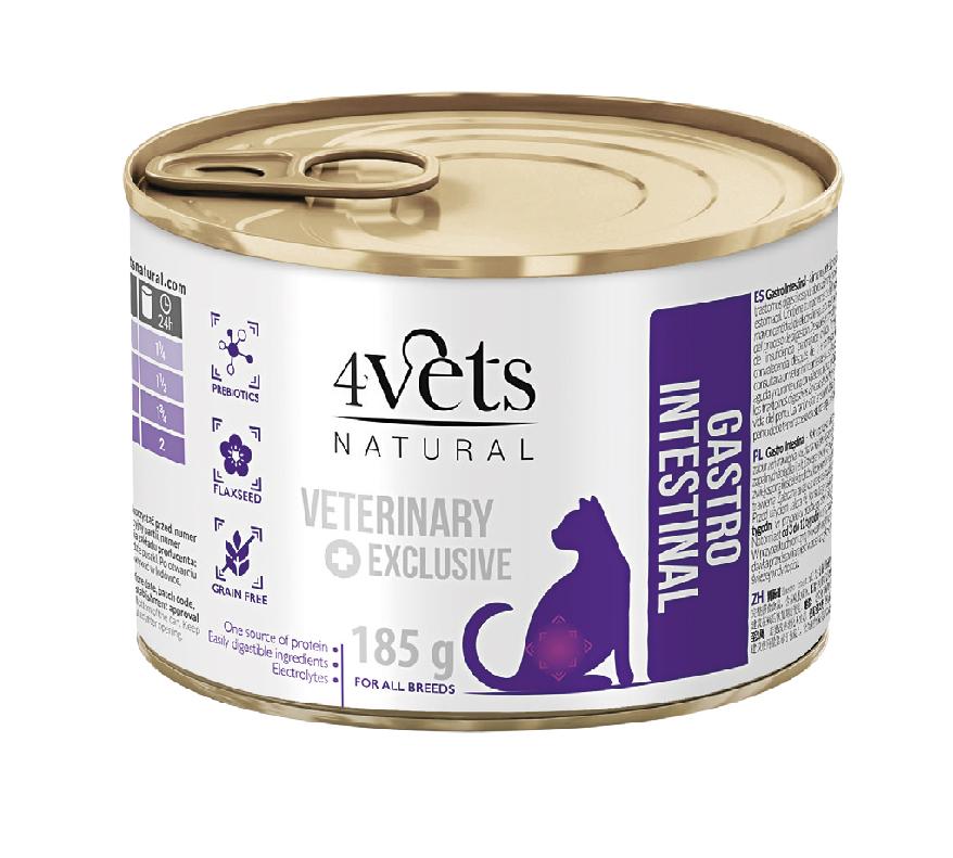 4VETS CAT GASTRO INTESTINAL  6 X 185 G (13087)