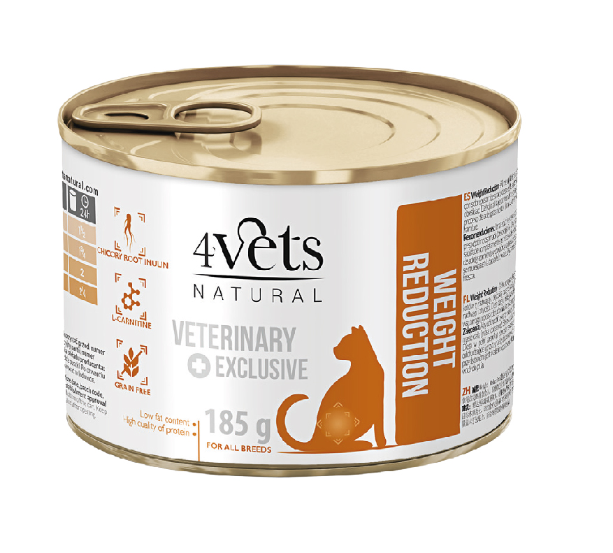 4VETS CAT WEIGHT REDUCTION 6X185 G (13089)