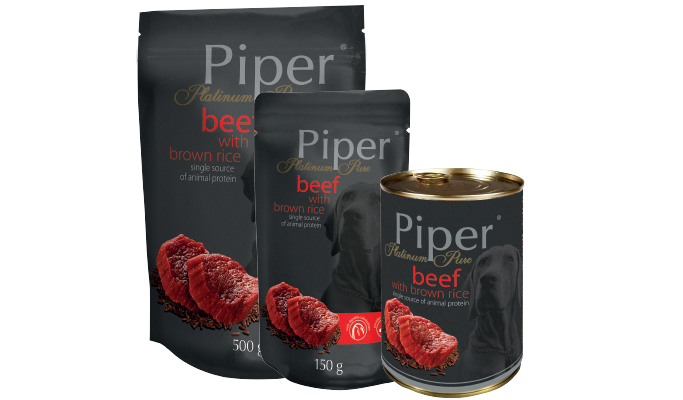 PIPER PLATINUM PURE BEEF WITH BROWN RICE 400 G (13041)